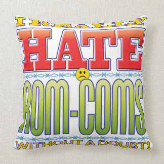 Rom-Coms Hate Face Throw Pillows
