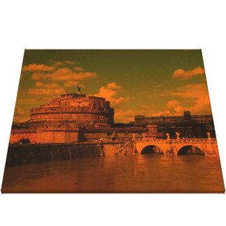 rom, dramatic light gallery wrap canvas