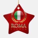Roma Adorno Navideño De Cerámica En Forma De Estrella