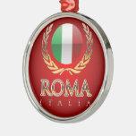 Roma Adorno Redondo Plateado