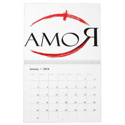 Roma Amor Calendario De Pared