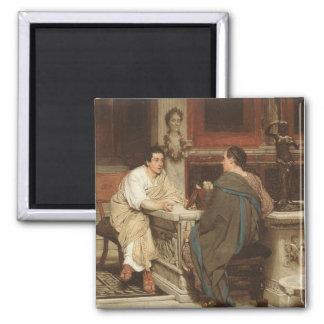 Roma antigua Cicero y Atticus Imán Cuadrado