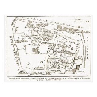 Roma antigua, colina de Palatine Tarjetas Postales