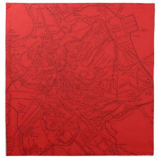 Roma antigua en rojo servilleta imprimida