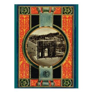 Roma, arco adornado del marco de Constantina Postales