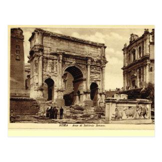 Roma, arco de Septimus Severus Tarjeta Postal