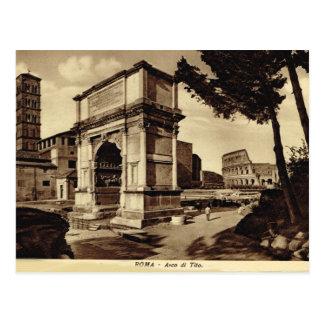 Roma, arco de Titus Tarjeta Postal