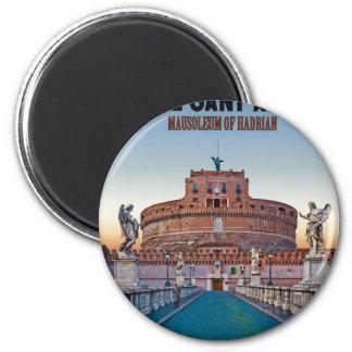 Roma - Castel Sant'Angelo Imán Redondo 5 Cm