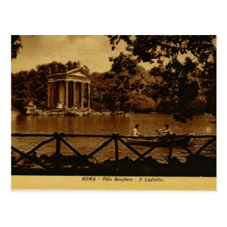 Roma, chalet Borghese Tarjeta Postal