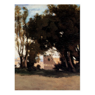 Roma, coliseo, visión desde los jardines de postal