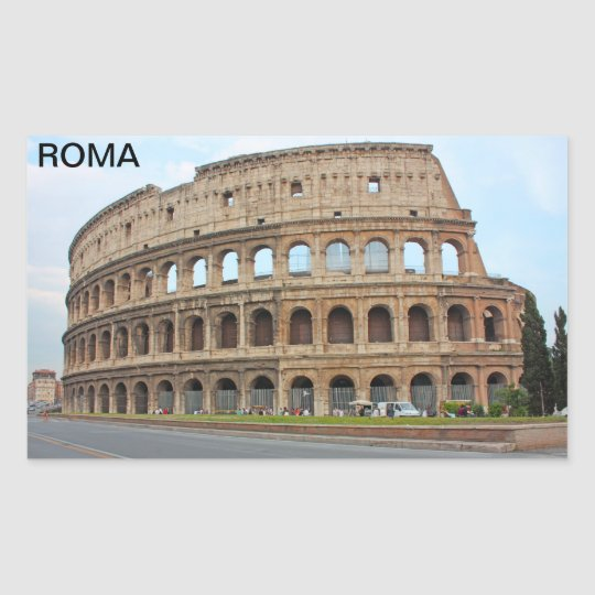 Roma coliseum rectangular sticker