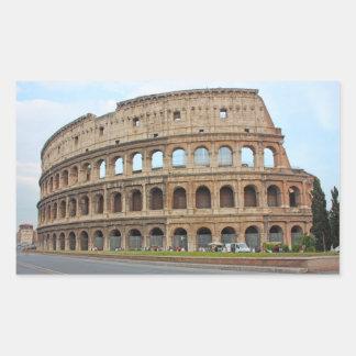 Roma coliseum rectangular sticker