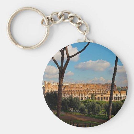 Roma - Colosseum de la colina de Palatine Llavero Redondo Tipo Pin