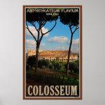 Roma - Colosseum de la colina de Palatine Poster