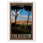 Roma - Colosseum de la colina de Palatine Tarjeton