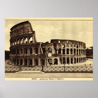 Roma, Colosseum en C. 1900 Póster