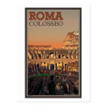Roma - Colosseum y la luna Postal