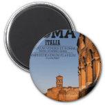 Roma - Colosseum y templo de Venus Iman De Nevera