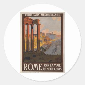 Roma con el Mont-Cenis Pegatina Redonda