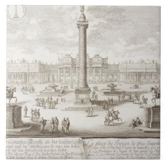 Roma cuadrada de Trajan, 'de historis del einer de Azulejo Cuadrado Grande