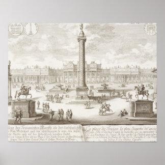 Roma cuadrada de Trajan, 'de historis del einer de Impresiones