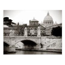 Roma, cuadrado del san peter postal