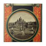 Roma, cubierta 1900 de la guía turística azulejo ceramica