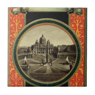 Roma, cubierta 1900 de la guía turística azulejo cuadrado pequeño