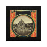 Roma, cubierta 1900 de la guía turística caja de regalo