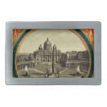 Roma, cubierta 1900 de la guía turística hebilla cinturon rectangular