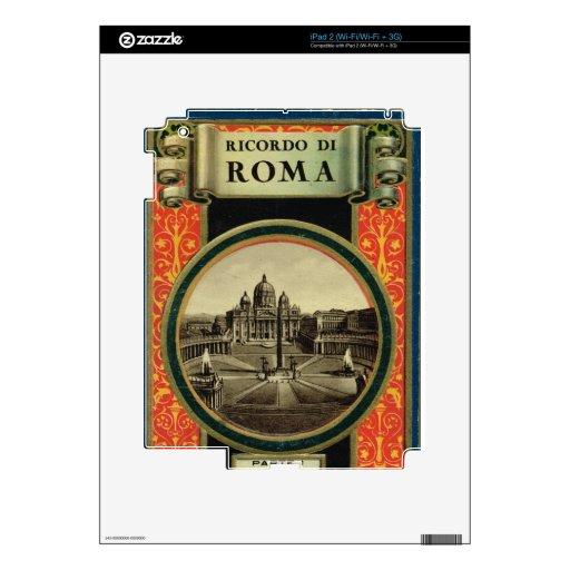 Roma, cubierta 1900 de la guía turística calcomanía para el iPad 2