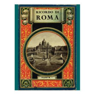 Roma, cubierta de libro de la postal 1900