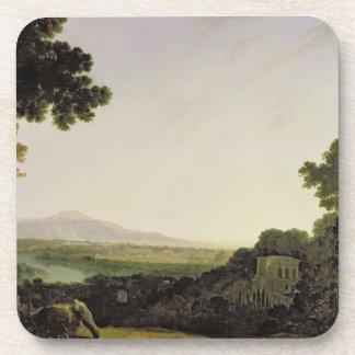 Roma del chalet Madama (aceite en lona) Posavaso