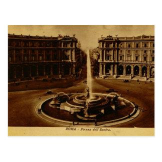 Roma, dell Esedra 1890 de la plaza Tarjeta Postal