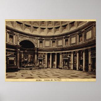 Roma dentro del panteón impresiones