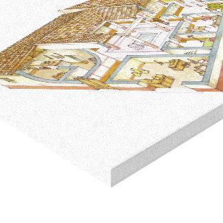 Roma. Domus Impresión En Lona