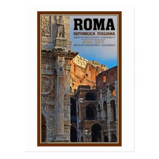 Roma - el arco de Constantina y del Colosseum Postal