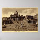 Roma, el cuadrado de San Pedro, vatican Impresiones