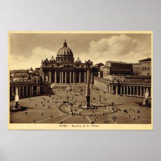 Roma, el cuadrado de San Pedro, vatican Póster
