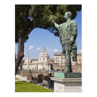 Roma, el foro, estatua de Cesar Postal