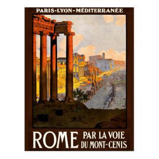 Roma en el poster 1920 del viaje de Voie del La Postal
