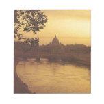 Roma en la puesta del sol, el río Tíber y San Pedr Bloc De Notas
