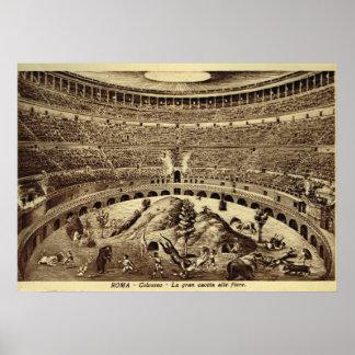 Roma, entretenimiento en el Colosseum Póster