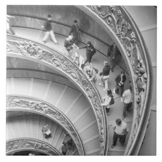 Roma escalera 3 de Italia, Vatican Azulejo Cuadrado Grande