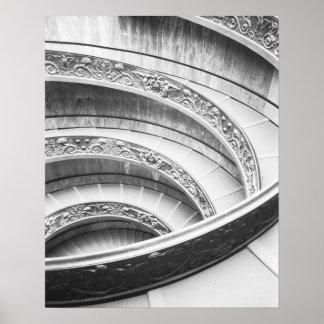 Roma escalera de Italia, Vatican Póster
