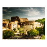 Roma eterna debido a la postal de Colosseum