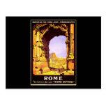 Roma expresa tarjeta postal