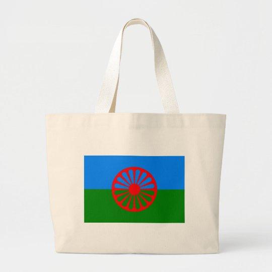 Roma Flag (Romani Flag) Large Tote Bag