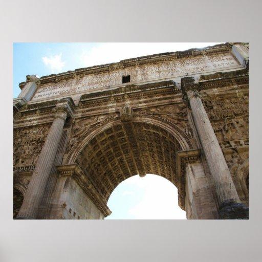 Roma - foro - arco del POSTER de Titus