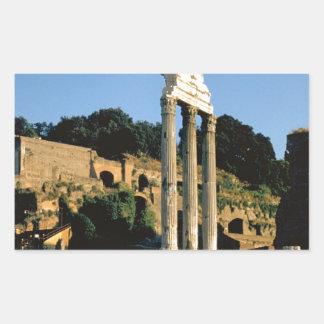 Roma, Foro Romano, 1956 Pegatina Rectangular